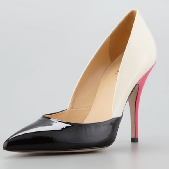 b02d7acaf2 kate spade Shoes | Lottie Colorblock Patent Leather Heels | Poshmark